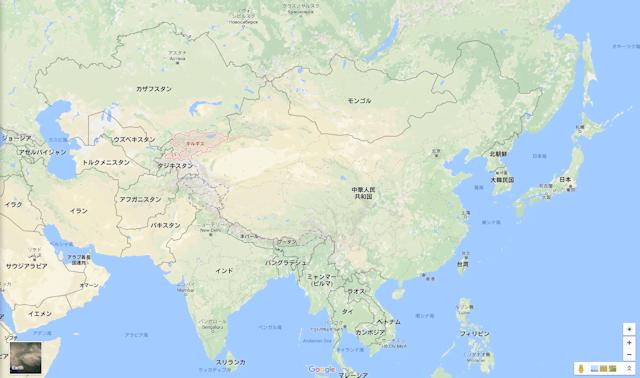 キルギス地図